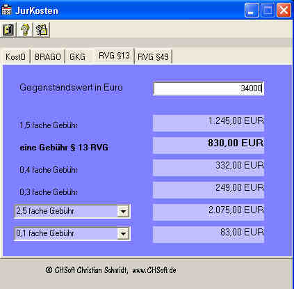 Download JurKosten-Rechner